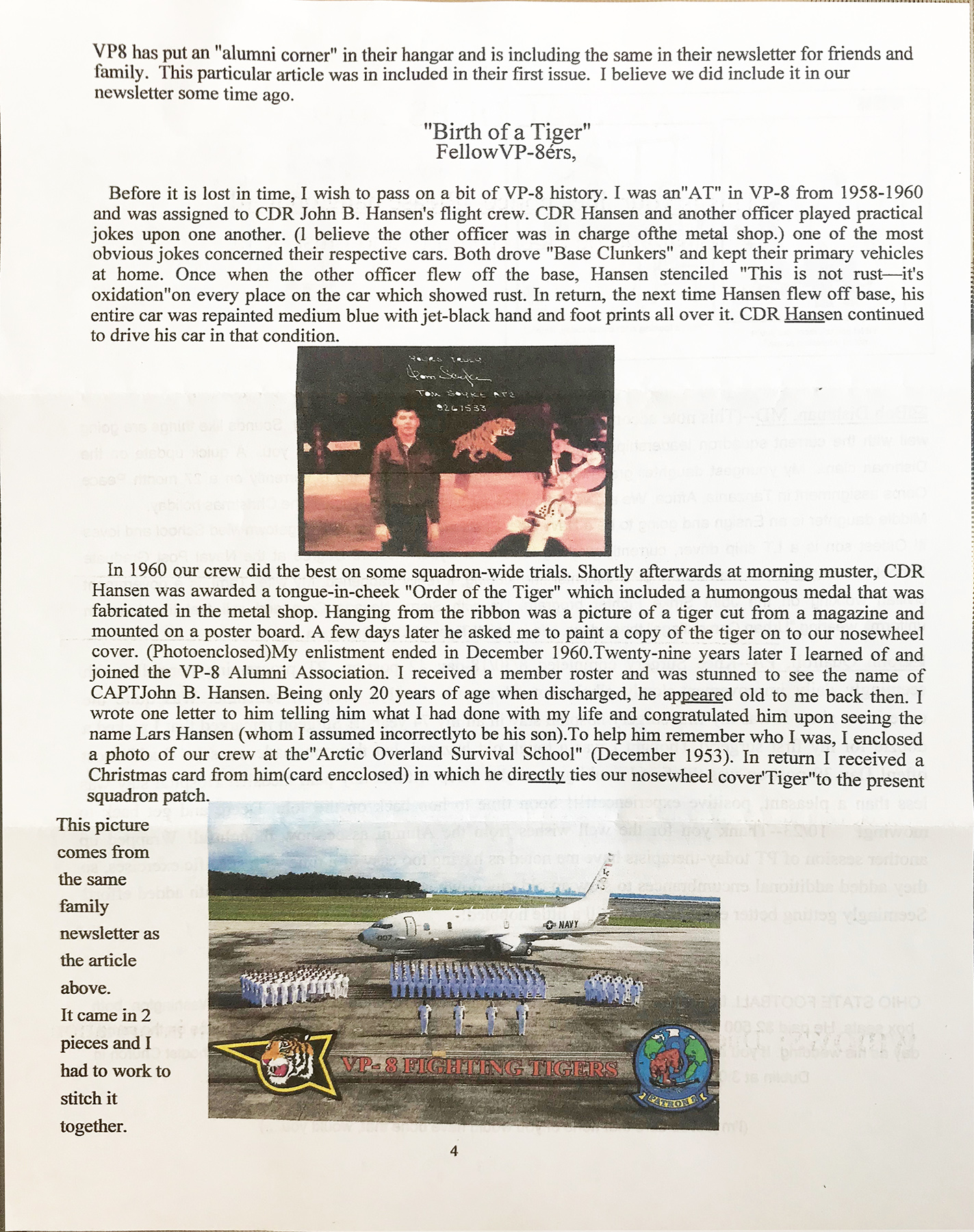 Page 4 Newsletter